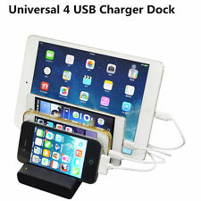 Universal 4 USB Multi-Port USB Charging Station Travel Wall Charger Desktop