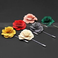 Multi-Color Fabric Daisy Brooch Pin Boutonniere Rose Flower