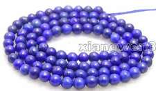 "SALE small 6mm Round Blue natural lapis lazuli loose beads loose strand 15""-628"