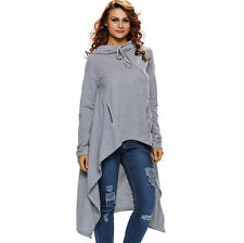 Womens Cotton Ladies Patchwork Batwing High Elastic Waist Blouse Shirt Casual