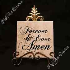 Forever and Ever Amen Tiles with Saying and Stand Home Decor Kitchen Decorative