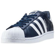 adidas Superstar Mens Trainers Navy White New Shoes