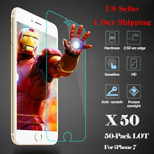 NEW 50x Wholesale Lot Tempered Glass Screen Protector for Apple iPhone 7