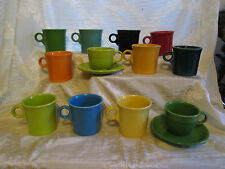 Fiesta Mugs Cups Cereal Cups 10 Colors Red Green Blue Marigold Tangerine Yellows