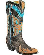 Corral Women's Turquoise Eagle Overlay Cowgirl Boot Snip Toe - R2289