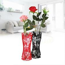 10PCS New Black DIY Home Office Desk Decoration PVC Plastic Art Vase Flowers