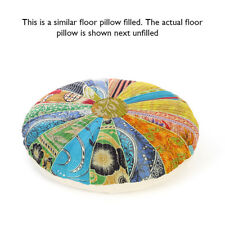 """17"""" Colorful Decorative Kantha Floor Pillow Cushion Seating Throw Cover Bohemian"""