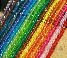 100Pcs Wholesale New 20 Colors Rondelle Crystal Loose Beads 4mm Free Ship
