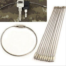 10/20/50Pcs EDC Wire Rope Key Ring Stainless Steel Wire Chain Pendant Loop  R