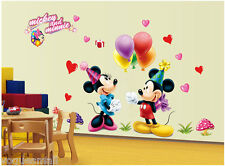 Mickey Mouse Minnie Vinyl Mural Wall Sticker Decal Kids Nursery Room Home Decor