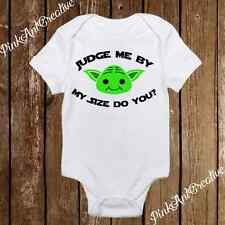Judge me by my size Yoda Star Wars Cute Baby Girl/Boy clothes newborn onesie