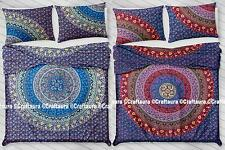 Indian Mandala Quilt Duvet Cover Bedding Cotton Queen Size Doona Cover Bed Set