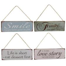 New Wooden Board Sign Plaque Hanging Décor-Family/Love Story/Life is Short/Smile