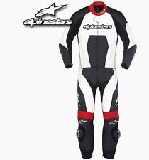 Alpinestars Carver  Leather 2 Piece Motorcycle Suit BLACK/Red  Free postage