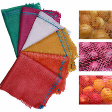 200 NET SACKS WOVEN MESH BAGS VEGETABLES LOGS KINDLING WOOD LOG 50x 80cm -30kg