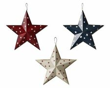 12'' Metal Patriotic Barn 3D Star Primitive Rustic Country Star July 4th Decor