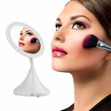 2-in-1 LED Makeup Mirror With Table Lamp for Bedroom Table Cosmetic Mirror S4W