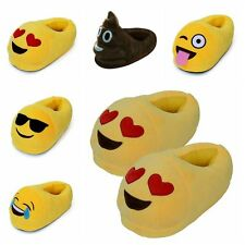 Winter Indoor Warm Fluffy Shoes Emoji Pattern Plush Slippers