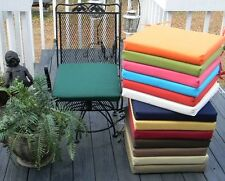 """19.5""""X19""""X2"""" FOAM OUTDOOR UNIVERSAL BISTRO CHAIR PAD CUSHION-CHOOSE SOLID COLORS"""