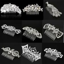 Luxury Crystal Rhinestone Pearl Floral Bridal Hair Comb Wedding Hair Accessory