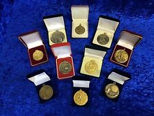Set of 10 Assorted Various Football Medals End of Line Tournament Club Set 5