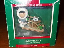 Hallmark 1989 Frosty Friends, Tenth in Series,  Christmas Ornament