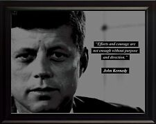 "John F. Kennedy ""JFK"" Photo Picture, Poster or Framed Quote: Efforts and Courage"