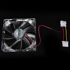 Quad 4-LED Light Neon Clear 120mm PC Computer Case Cooling Fan Popular ff