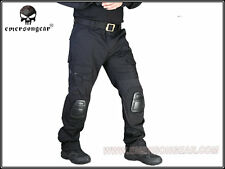Emerson New Tactical Gen2 Combat Pants with knee pads Paintball SWAT BK  7038B