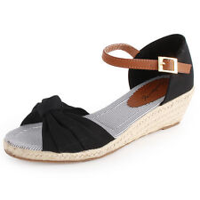 Mustang Ankle Strap Womens Sandals Black New Shoes