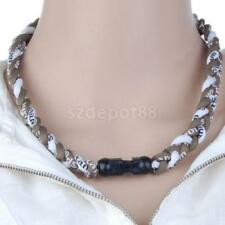 Cord Twisted Titanium Baseball Football Sport Tornado Lonic Necklace 20in