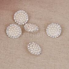 Sewing Shank Buttons Craft Crystal Clear Rhinestone Pearl Button Square
