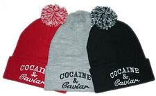 Women Men's Beanies Cocaine and Caviar warm Winter Cotton knit Caps Hip Hop Hats