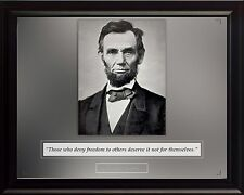 """Abraham Lincoln Photo Picture, Poster or Framed Famous Quote """"Those who deny"""""""
