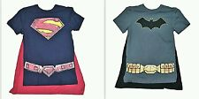 Superman / Batman Logo DC Comics Short Sleeve Men's Graphic Cape T-Shirts: S-XL
