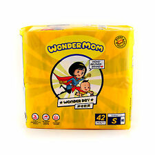 Wonder Mom Baby Dry Diapers Size S Small (3-6kg) 42 Count