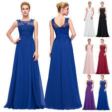 Long Chiffon Evening Engagement Party Gowns Formal Satin Bridesmaid Prom Dress