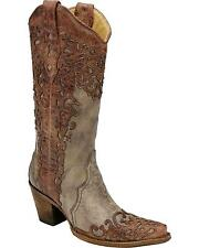 Corral Women's Laser Overlay Cowgirl Boot Snip Toe - A2665