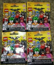 Lot of 4 Limited Edition Lego BatMan Movie MiniFigure Blind Bags NEW SEALED