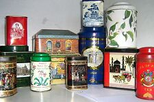 COLLECTOR's TINS - EARLY TEA - 1960/2000 ~ click Select - to browse or order