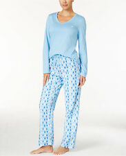 NWT NAUTICA Women's Knit Top and Flannel Pajama Pants Set S/M/L/XL/2XL 3 colors