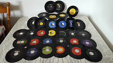 "ASSORTED VINTAGE LOT OF 34 ~ 45 RPM 7"" VINYLS ~ COUNTRY/POP/GOSPEL ~1960-80'S"