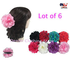 6pcs Double Sided Flower Hair Clip Claw Jaw Pin Updo Party Wedding Wholesale Lot