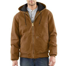 Carhartt Sandstone Duck Active Jacket - Quilted Flannel Lined - CARHARTT BROWN