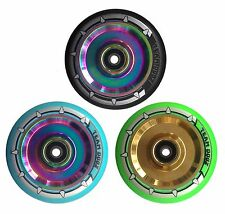 Hollow Alloy Core Stunt Scooter 100mm 110mm Wheel Oil Slick, Jet Fuel, Rainbow