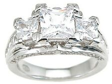 Vintage Antique Style Princess Cut High Quality Engagement Ring