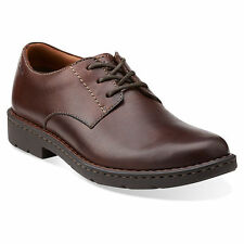 Clarks STRATTON WAY Mens Brown Leather 02519 Comfort Lace Up Dress Oxford Shoes