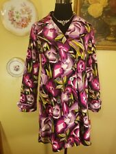 NEW! Missoni XL Girls Trench Coat Jacket - Purple/Pink Floral Rose - Womens XS