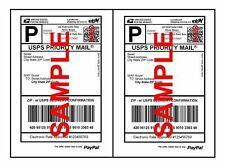 High Quality Self Adhesive Paypal Mailing Shipping Labels 8.5 x 5.5 USPS FEDEX