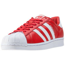 adidas Superstar Mens Trainers Red White New Shoes